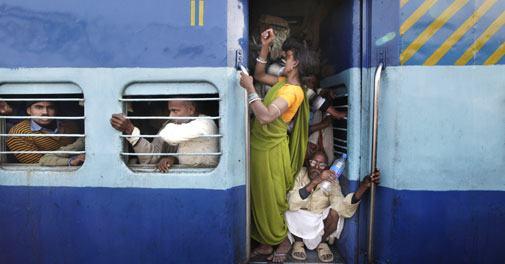 Indian rail passengers